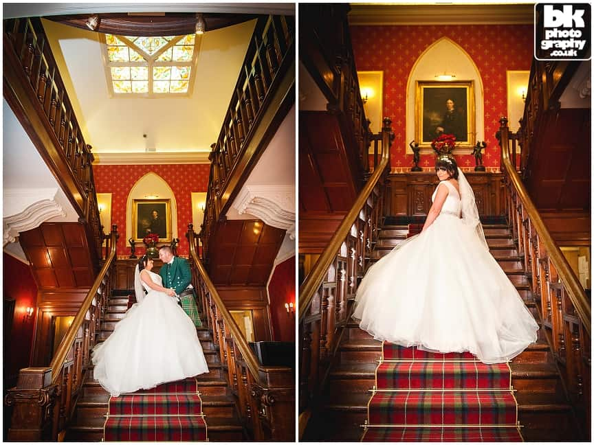 Sherbrooke Castle Hotel Wedding Photographers by BK Photography